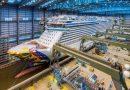 Norwegian Encore deja muelle cubierto del astillero Meyer Werft