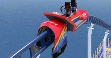 Carnival Cruise Line revela detalles de su montaña rusa en el mar