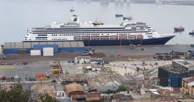 Volendam arriba a Coquimbo en medio de su Grand South America & Antártica Voyage