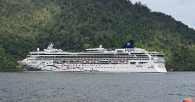 Aysén recibe más de 2.322 cruceristas a bordo del Norwegian Star